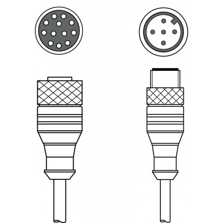 KDS S-M12-CA-M12-5A-P1-004-23X - Interconnection cable