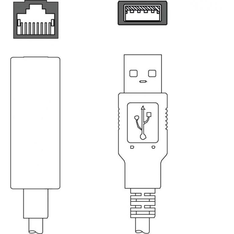 KDS ET-RJ45-A-USB3-A-P4-000 - Adapter cable