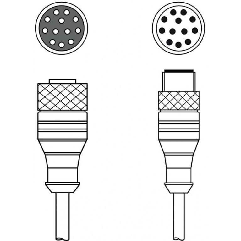 KDS S-M12-CA-M12-CA-P1-100 - Interconnection cable