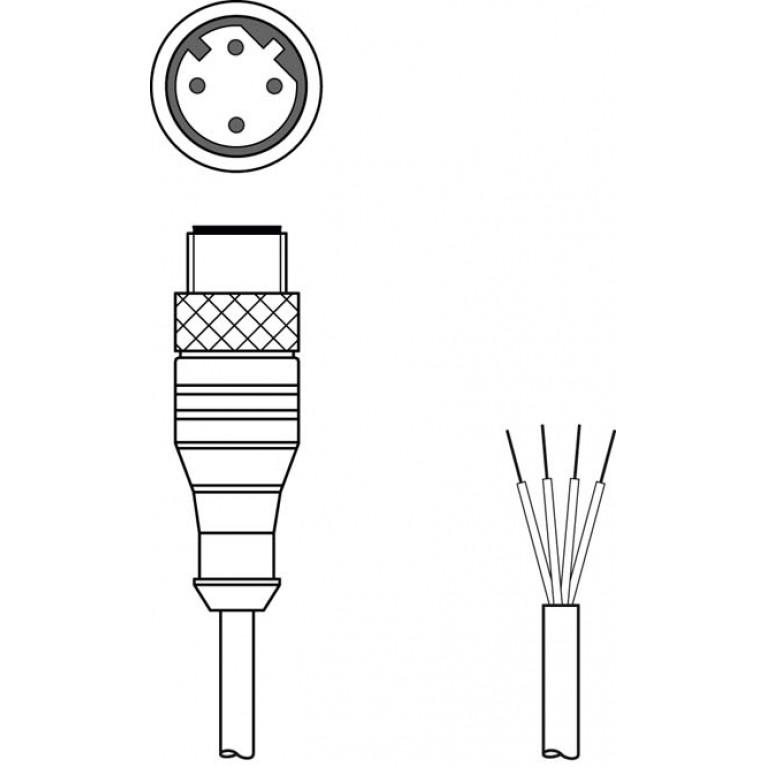 KS ET-M12-4A-P7-300 - Connection cable