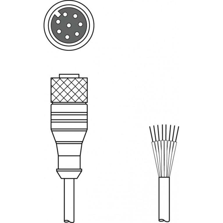 KD S-M12-8A-P1-050 - Connection cable