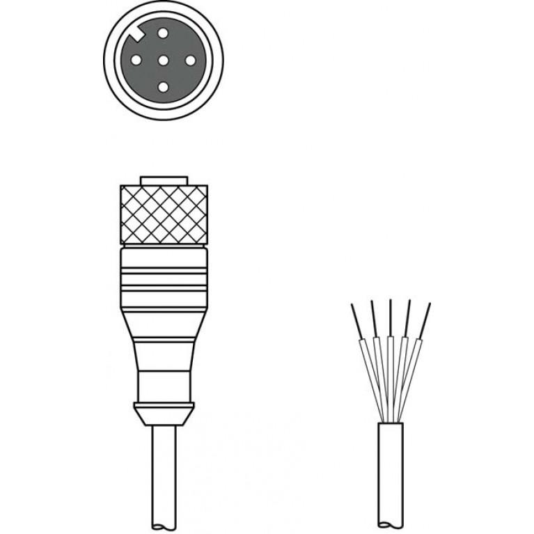 KD U-M12-5A-P1-050 - Connection cable