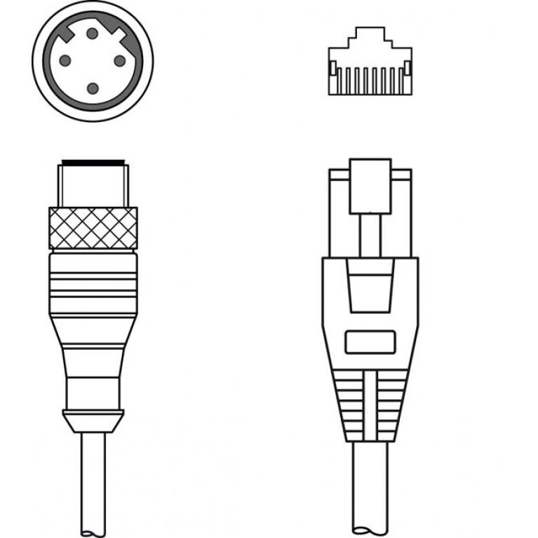 KSS ET-M12-4A-RJ45-A-P7-300 - Interconnection cable