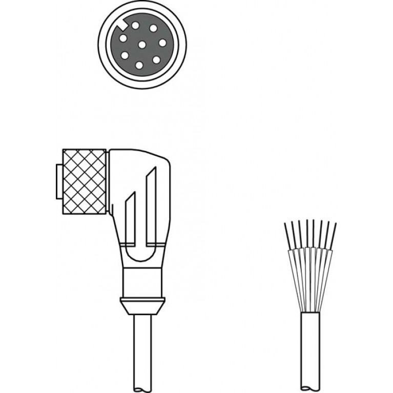 KD S-M12-8W-P1-050 - Connection cable